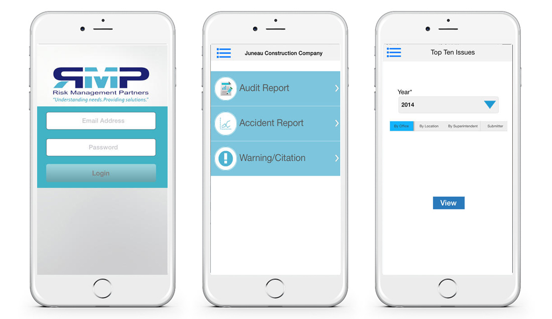 Here's the mobile app we made for Risk Management Partners
