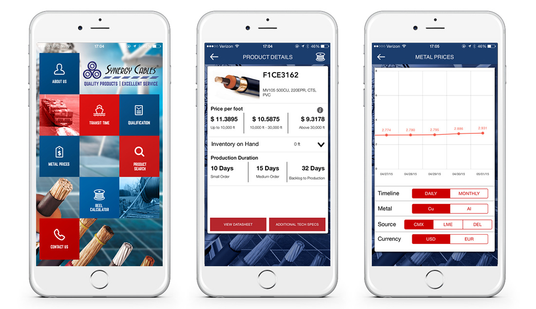 Here's the mobile app we made for Synergy Cables