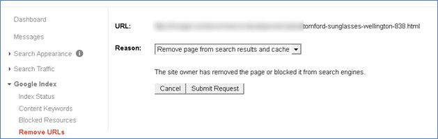 Remove page from search results and cache 2