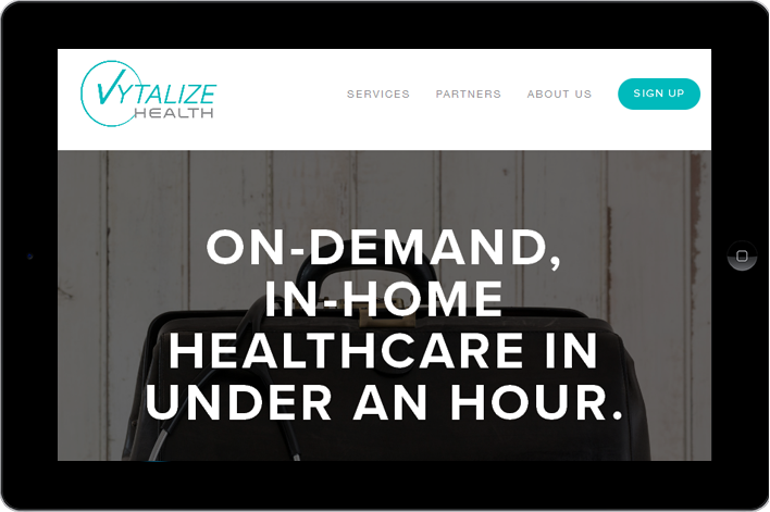 Vytalize Health Home screen